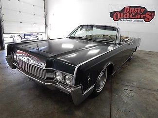 1966 Lincoln Continental Suicide Doors GreenTan Top Elec Work Convertible