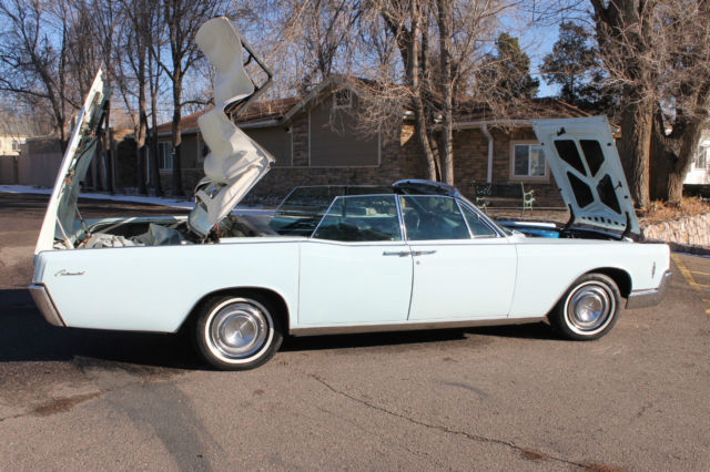 1966 Lincoln Continental Convertible Baby Blue Doors
