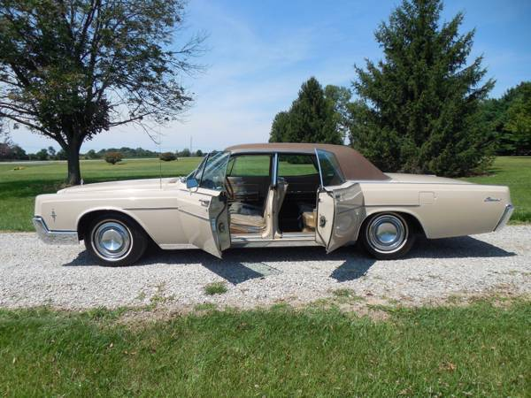 1966 Lincoln Continental Suicide Doors Original Car Classic Plates