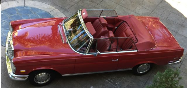 1966 mercedes 250se cabriolet 4 5 restomod los angeles for Mercedes benz parts los angeles