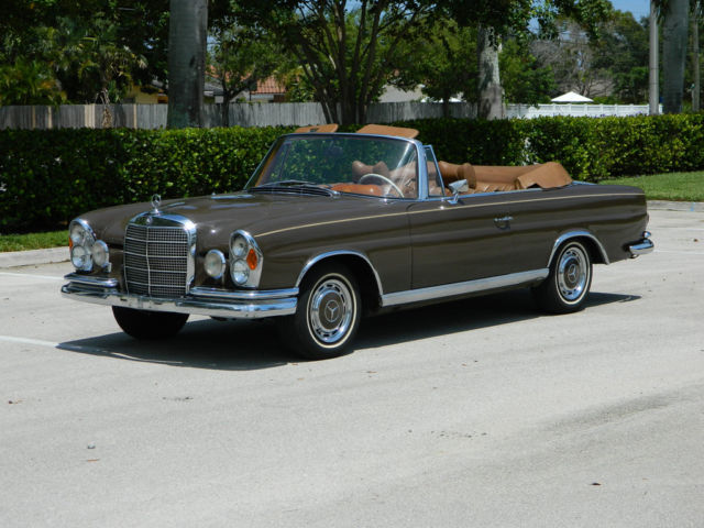 1966 mercedes benz 250 se cabriolet automatic chocolate. Black Bedroom Furniture Sets. Home Design Ideas