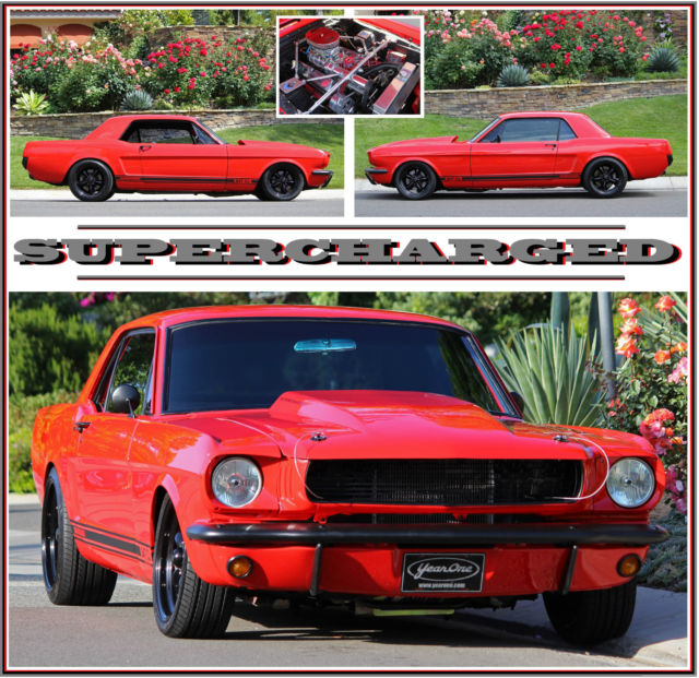 Ford Mustang Supercharged South Africa: 1966 MUSTANG 347 STROKER SUPERCHARGED, 5 SPEED, POSI