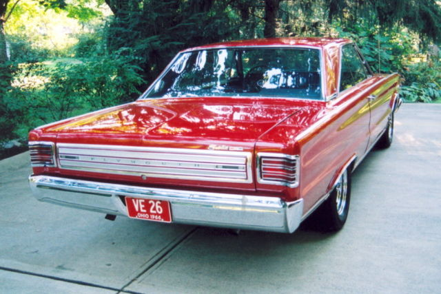 1966 Red Plymouth Satellite HP2 Sedan with Black interior