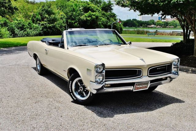 1966 Pontiac Le Mans Convertible 326 V8 4bbl Auto Window Sticker