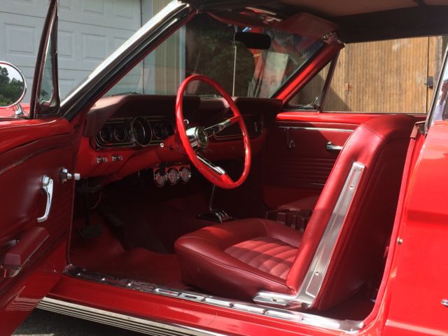 1966 red mustang convertible with new trim wheels engine interior and paint for sale photos. Black Bedroom Furniture Sets. Home Design Ideas