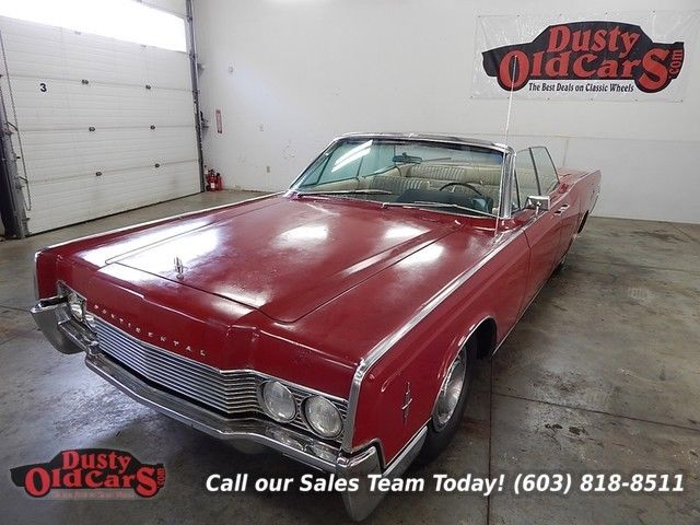 1966 Lincoln Continental Suicide Doors Convertible Top Windows Work