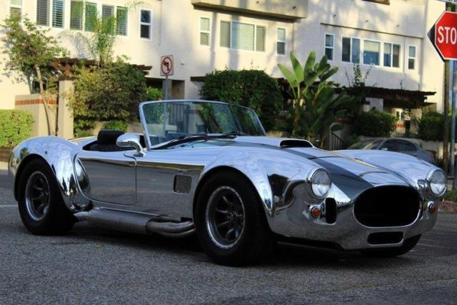 1966 Silver Shelby COBRA COBRA. HIGH END BUILD. 550 MILES! RARE Convertible with Black interior