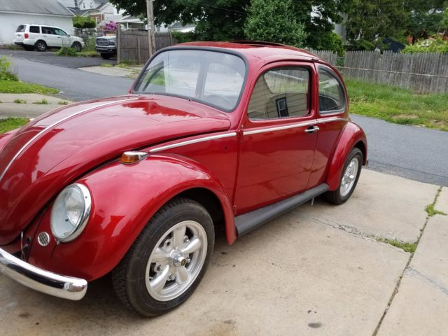 1966 Red Volkswagen Beetle - Classic with Tan interior