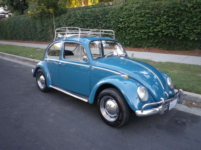 1966 Sea Blue Vw Beetle For Sale Oldbug Com: 1966 VW Beetle/RagTop For Sale: Photos, Technical