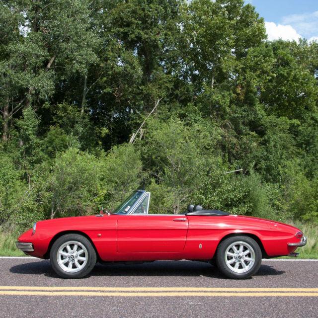 1967 Alfa Romeo Dovetail Spider 1600 Convertible,Matching