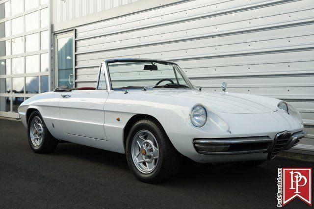 1967 Alfa Romeo Duetto Spider Factory Bianco White On Black