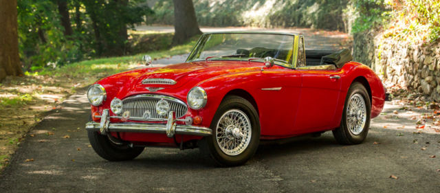 1967 Red Austin Healey 3000 Convertible with Black interior