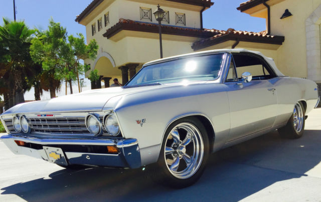 1967 chevelle convertible 350sb th400 silver bullet mailbu for Old american muscle cars for sale