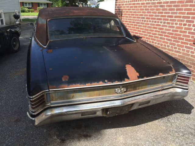 1967 chevelle ss 396 no reserve project car for sale photos technical specifications. Black Bedroom Furniture Sets. Home Design Ideas