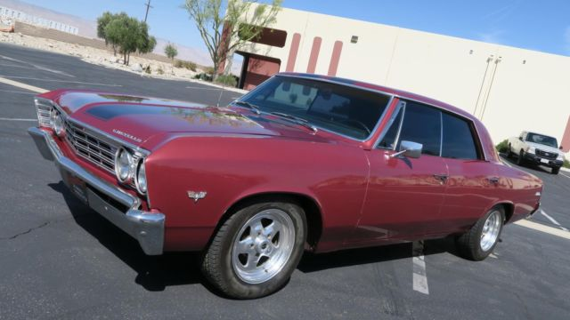 1967 Chevrolet Chevelle Malibu Sport Sedan 350/300h.p! New paint! P/S!