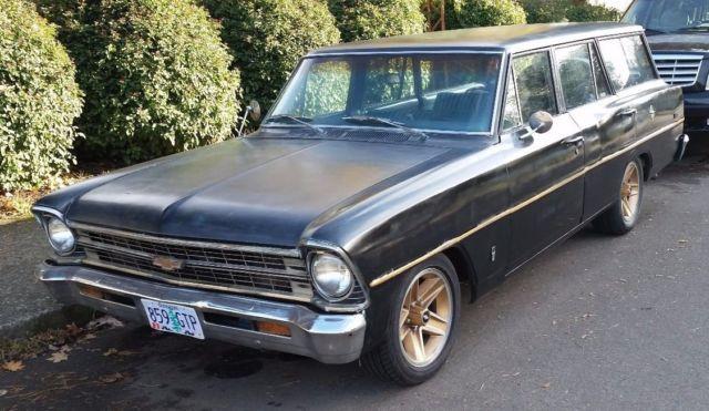 1967 Chevrolet Chevy II Nova Wagon Custom Rat Rod Solid Daily Driver Low 2 Drop
