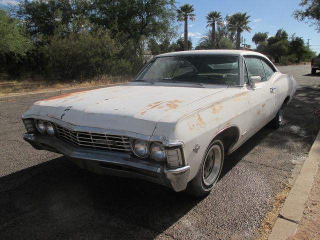 1967 Chevrolet Impala Ss 2 Door Hardtop Project 327 Automatic Factory A C Az Car