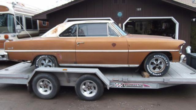 1967 Chevrolet Nova 2 Door Hardtop BARN FIND for sale