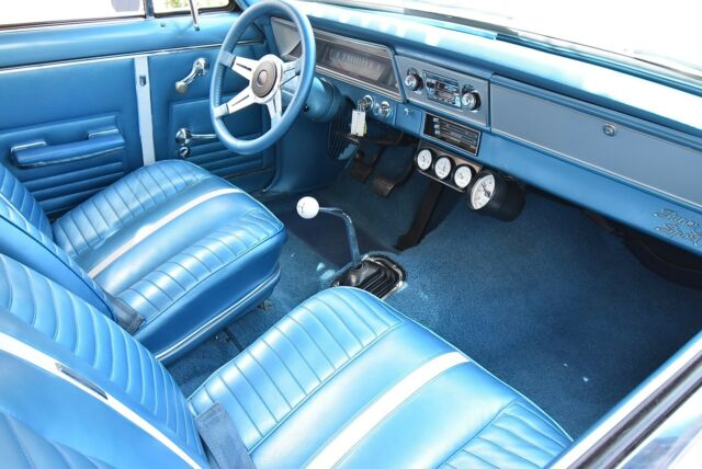 1967 White Chevrolet Nova Super Sport 2 Door Coupe with Blue interior