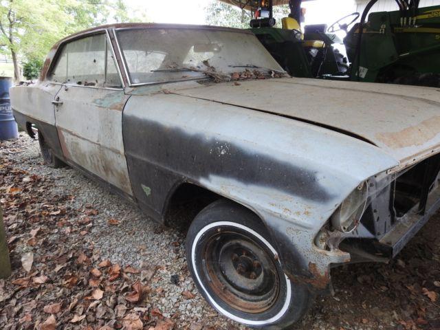 1967 Chevy 2 Nova SS 11867 Vin car, Roller needs full resto