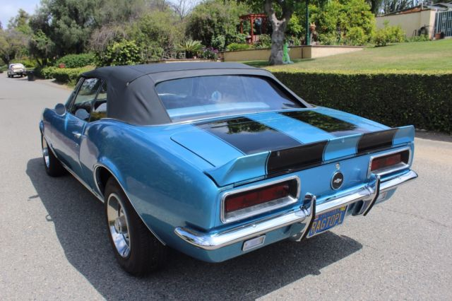 camaro convertible rs marina blue cali car video 1968 1969 for sale. Cars Review. Best American Auto & Cars Review