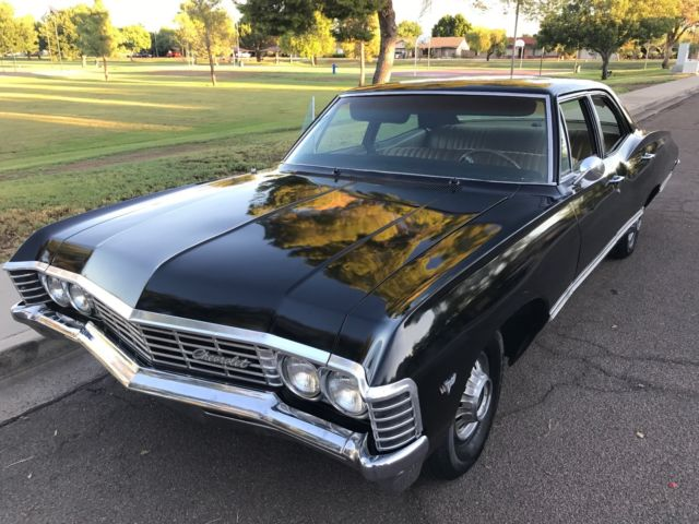 1967 chevy impala four door supernatural black hunter baby for sale photos technical. Black Bedroom Furniture Sets. Home Design Ideas