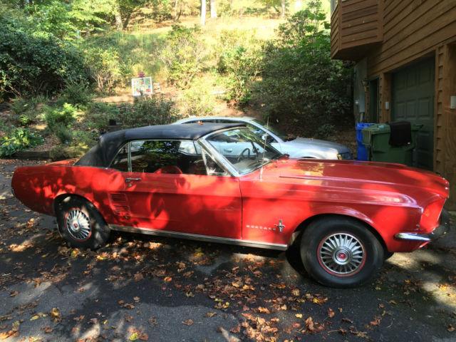 1967 convertible mustang red exterior redblack interior 73000 miles