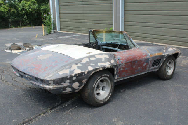 1967 corvette convertible lynndale blue black white 427 project car for sale photos technical. Black Bedroom Furniture Sets. Home Design Ideas