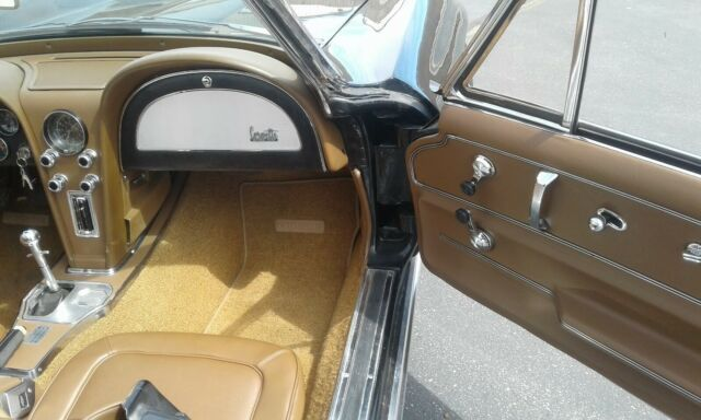 1967 Black Chevrolet Corvette Convertible with Tan interior