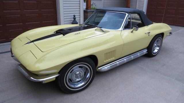 1967 Corvette Stingray Convertible Matching Numbers