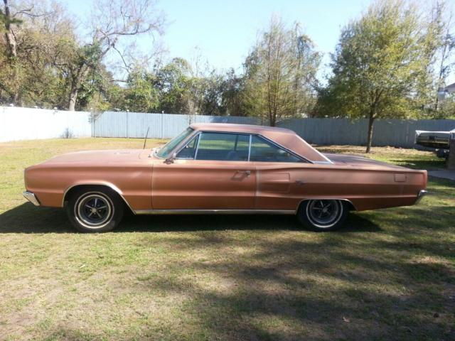 1967 Copper Dodge Coronet 2 Dr with Brown interior