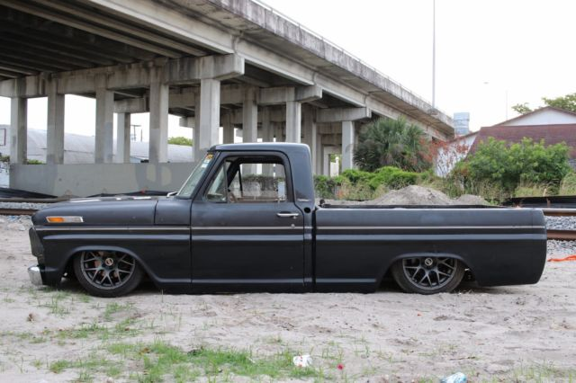 1967 f100 bagged air ride shop truck rat rod bodydropped for sale photos technical