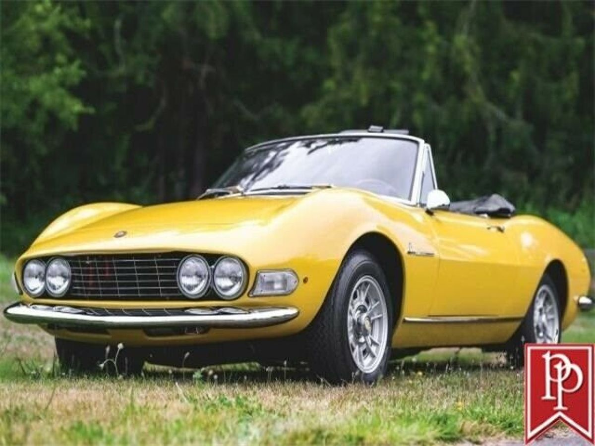 1967 Fiat Dino Spider Giallo Postiano Yellow On Black Restored For Sale Photos Technical Specifications Description