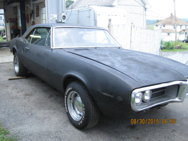 1967 Firebird 4 Speed V8 Project Car With Clear Title Super Solid