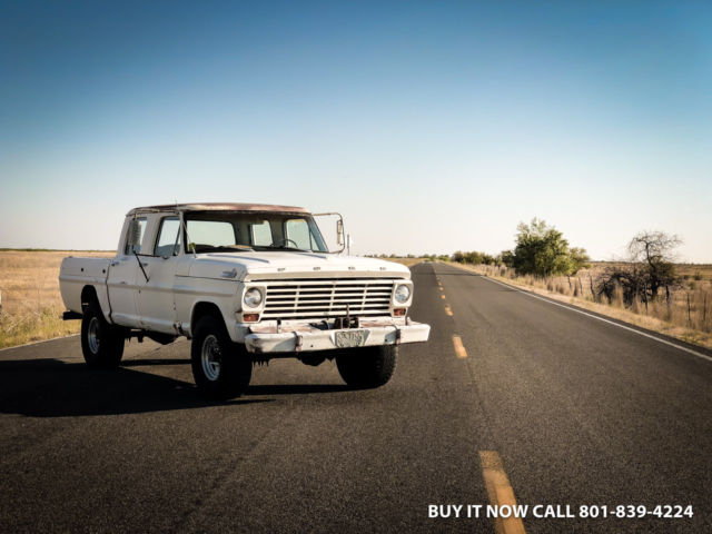F250 Short Bed For Sale >> 1967 Ford F 250 Crew Cab Rare Short Bed Unrestored 4wd A C Cab