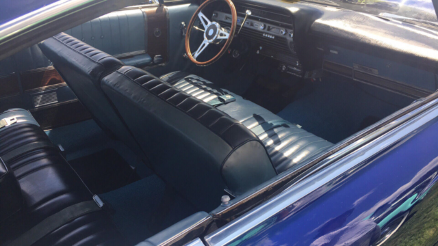 1967 Blue Ford Galaxie Coupe with Blue interior