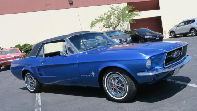 1967 Ford Mustang 289 C CODE LUXURY INTERIOR! BRITTANY BLUE! P/S!!!!