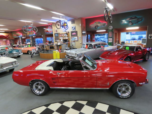 1967 ford mustang convertible 302 red white top