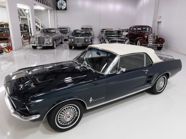 1967 Nightmist Blue Metallic Ford Mustang Mustang Convertible with Black interior