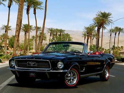 1967 ford mustang convertible gorgeous black on red interior selling no reserve - 1967 Ford Mustang Convertible Interior