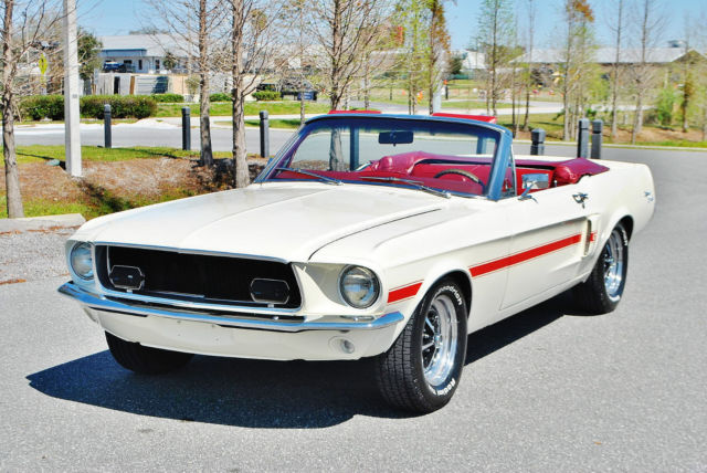 1967 ford mustang convertible gtcs tribute 289 v8 power steering and top mint