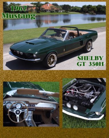 1967 Ford Mustang Convertible Shelby Cobra GT 350H Custom Resto mod