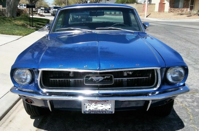 1967 Blue Ford Mustang Coupe F-CODE CALIFORNIA MADE AND OWNED NO RUST Coupe with Black interior