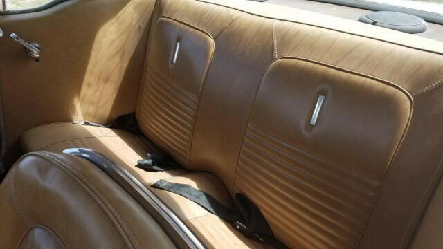 1967 Yellow Ford Mustang with Brown interior