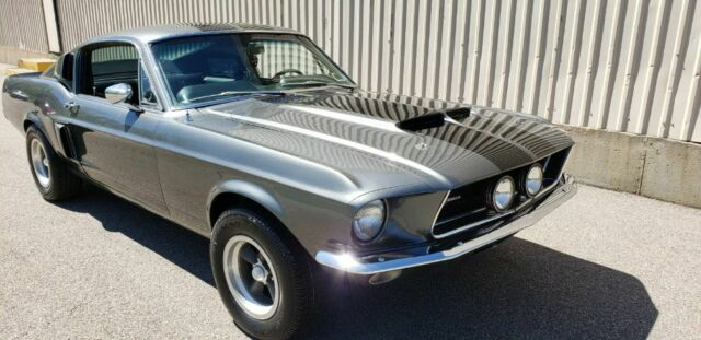 1967 GRAY Ford Mustang SIMILAR TO 1965 0R 1966 OR 1968 OR 1969 2+2 FASTBACK with BLACK interior