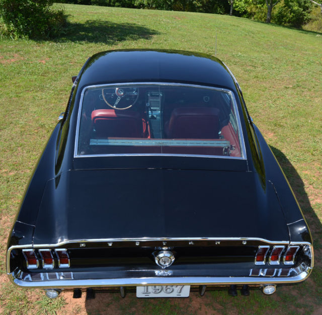1967 ford mustang fastback gt 390 4spd rare raven black w red interior restored - 1967 Ford Mustang Convertible Interior