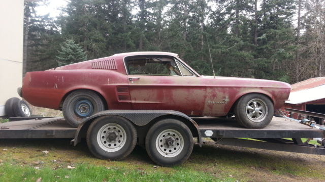 1967 Ford Mustang Fastback Project Car For Sale: Old Fastback Mustang Project For Sale.html