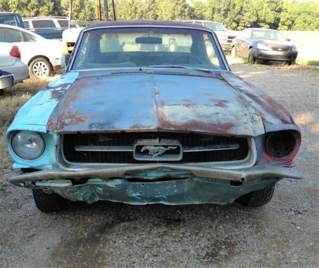 1967 Ford Mustang For Parts Or Red Lost Le