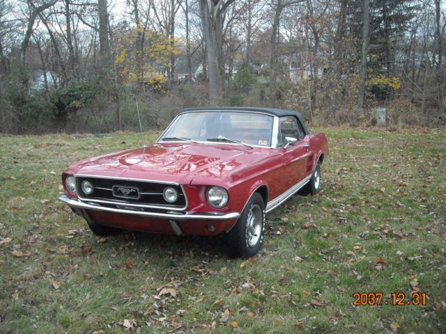 1967 ford mustang gt 390 s code conv rare garage find 4sp for Garage ford denney 90