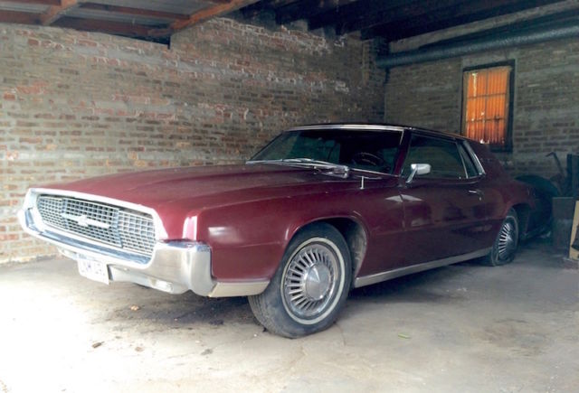 1967 Ford Thunderbird Coupe 2 Door Hard Top Vintage Burgundy Black Interior